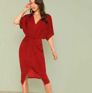 Shein red sexy dress